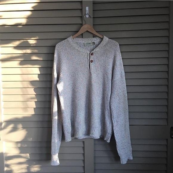 Vintage Sweaters Henley Sweater Poshmark
